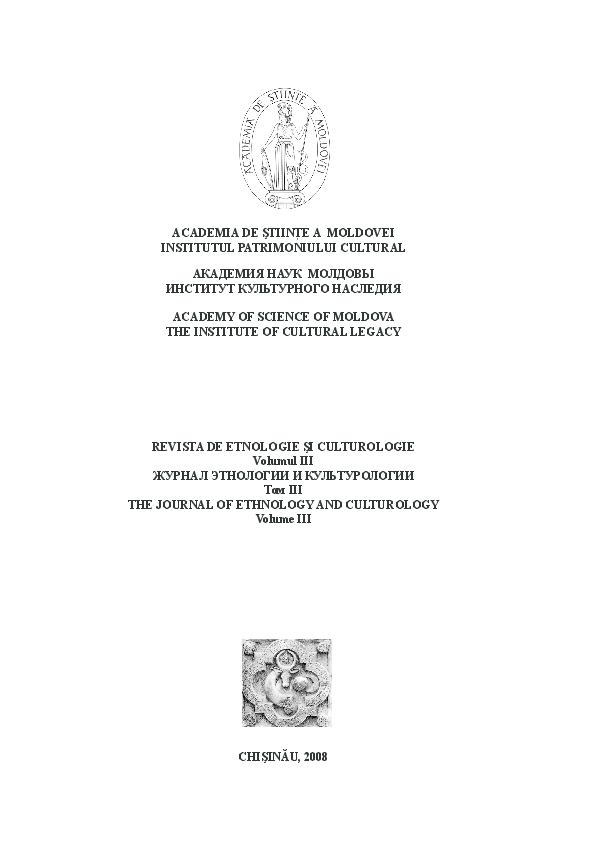 Pdf Revista De Etnologie Si Culturologie Vol Iii 2008 Ion