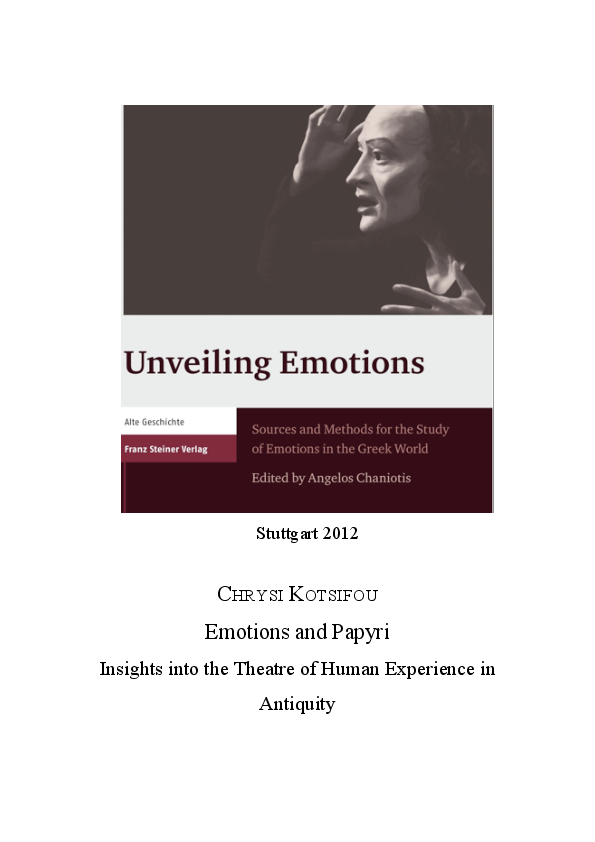 PDF) Emotions and Papyri: Insights into the Theatre of Human ...