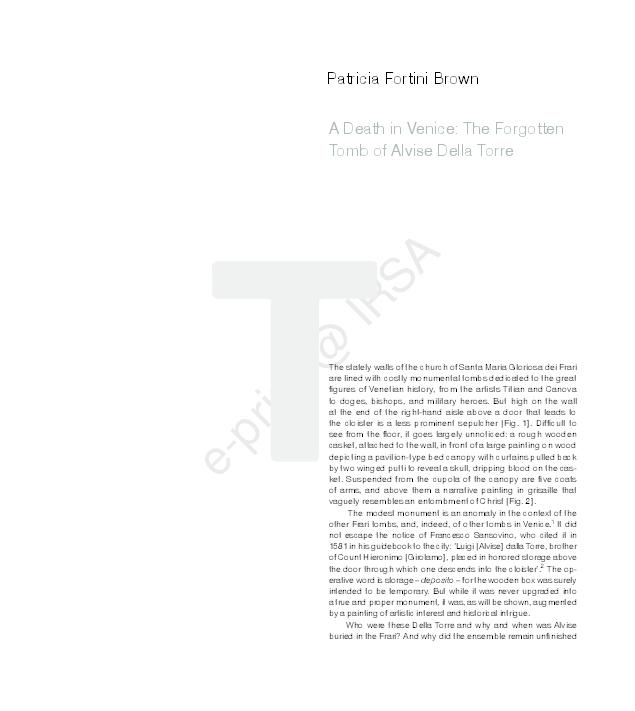 Venice death pdf in