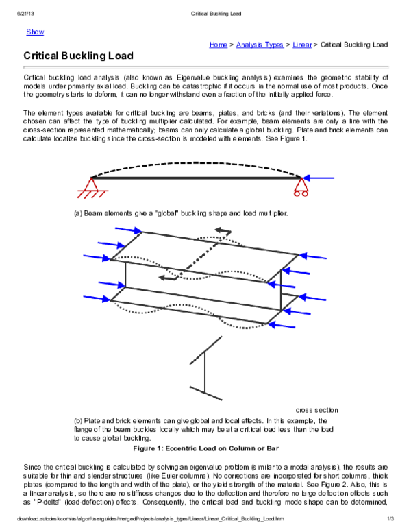 PDF) Critical Buckling Load | Premkumar S - Academia edu