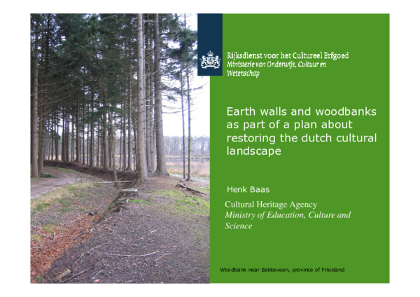 PDF) Earth Walls, hedges and woodbanks as part of a plan