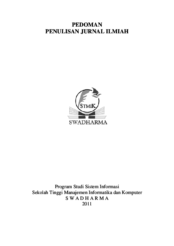 Pedoman Penulisan Jurnal Ilmiah Si Aninditya Better Academia Edu