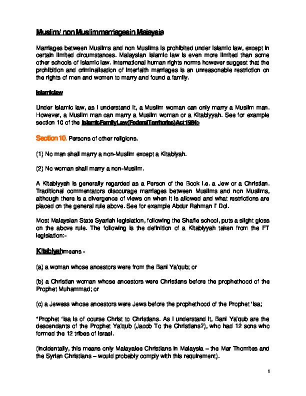DOC) BRIEF NOTES ON ISLAMIC FAMILY LAW   Afy Apis - Academia edu