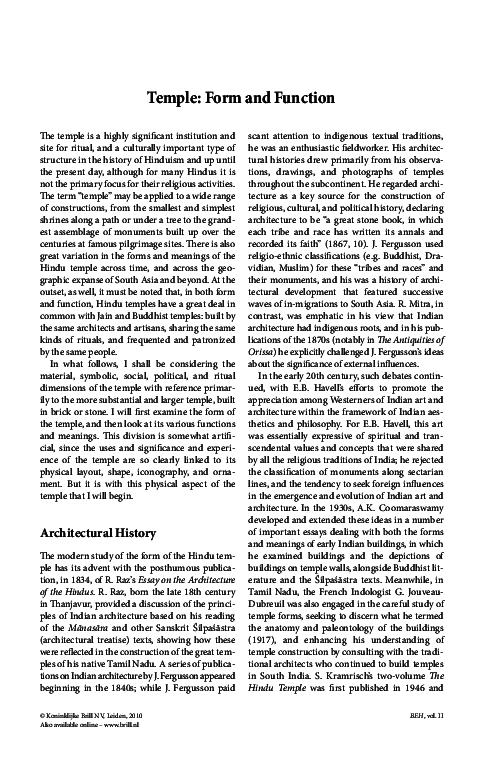 PDF) Temple: Form and Function   Leslie Orr - Academia edu