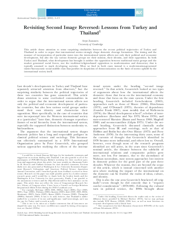 PDF) Revisiting Second Image Reversed: Lessons from Turkey and