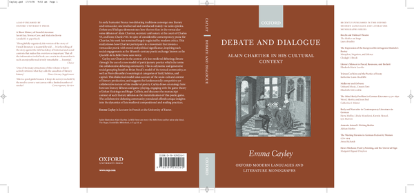 Debate and Dialogue: Alain Chartier in His Cultural Context
