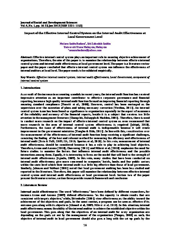 PDF) Internal control system   Mu'azu Sa'idu - Academia edu