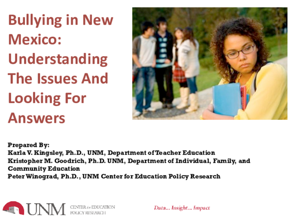 From Fcsn E Newsline Volume 35 Number 2 >> Pdf Bullying In New Mexico Understanding The Issues And Looking
