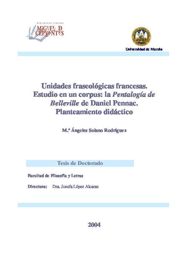Pdf Unidades Fraseológicas Francesas Estudio En Un Corpus
