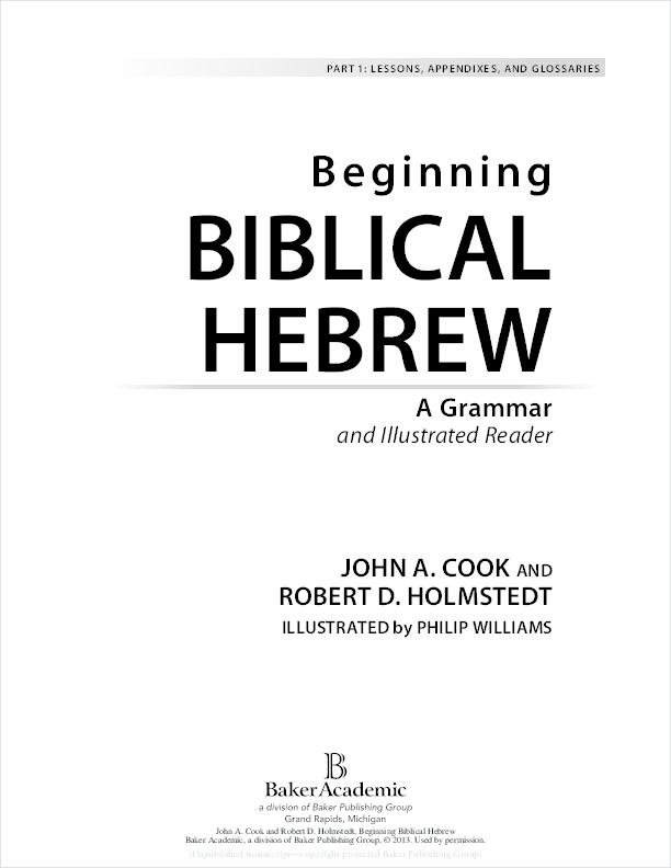 PDF) Beginning Biblical Hebrew: A Grammar and Illustrated Reader