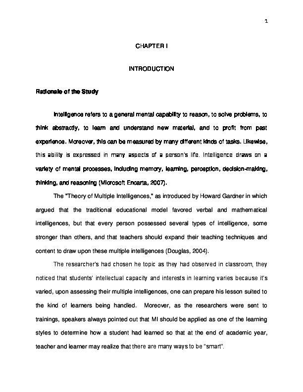 image relating to Printable Multiple Intelligence Test named Document) Numerous Intelligence Profile of Cristo Rey Area