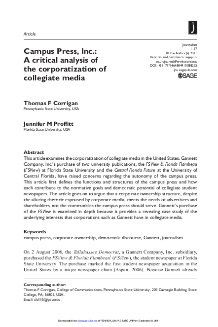 PDF) Campus Press, Inc : A critical analysis of the