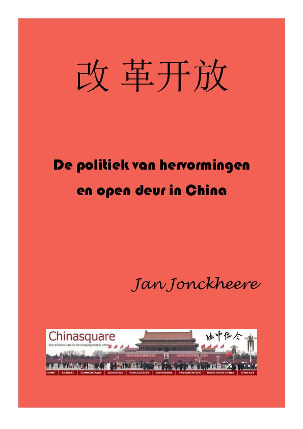 68daabb25189e4 PDF) De politiek van hervormingen en open deur in China