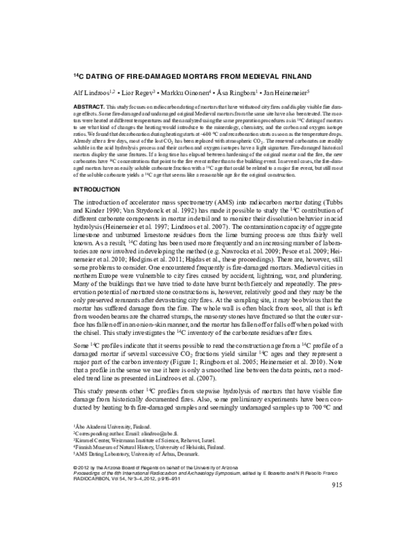 Radiocarbon används för vilken typ av dejting