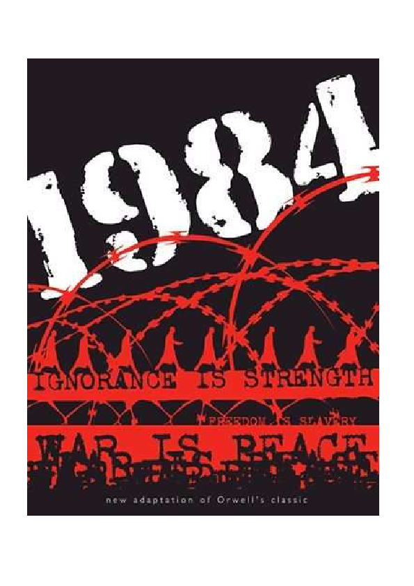 George Orwell 1 9 8 4 1WAR IS PEACE LA GUERRA ES LA PAZ FREEDOM IS ... 166b108acb79e