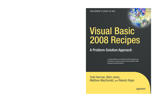 PDF) Visual Basic Recipes: A Problem Solution Approach by