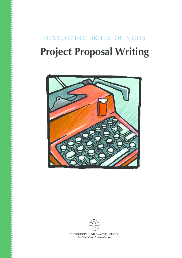 PDF) DEVELOPING SKILLS OF NGOS : Project Proposal Writing