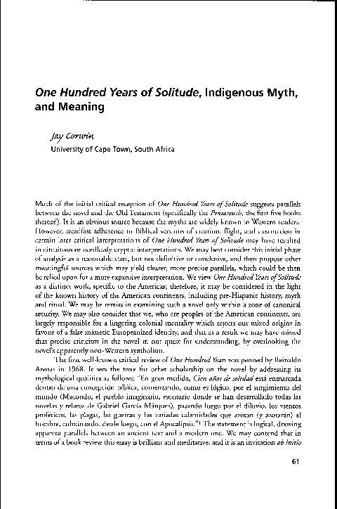 100 years of solitude free download pdf