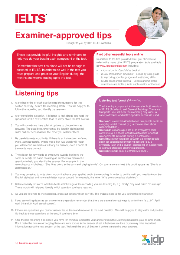 PDF) Examiner approved IELTS Tips | Duy Pham - Academia edu
