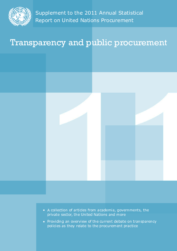 PDF) Promoting transparency and efficiency in public procurement: e