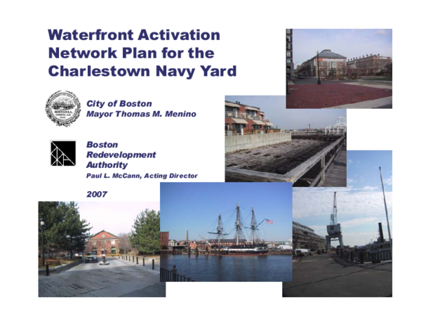 PDF) Waterfront Network Activation Plan for the Charlestown