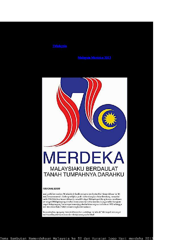 Pdf Tema Sambutan Hari Kemerdekaan Ke 56 Hootoh Tudia Academia Edu