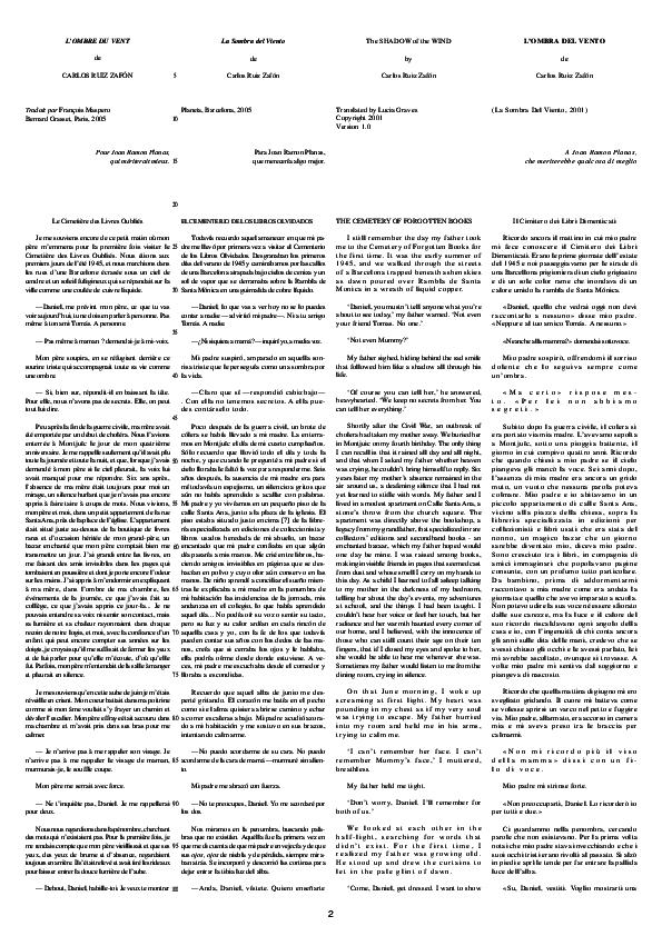 243c8465a0 PDF) Ruiz Zafón, Carlos ''The Shadow of the Wind''-Fr-Sp-En-It ...