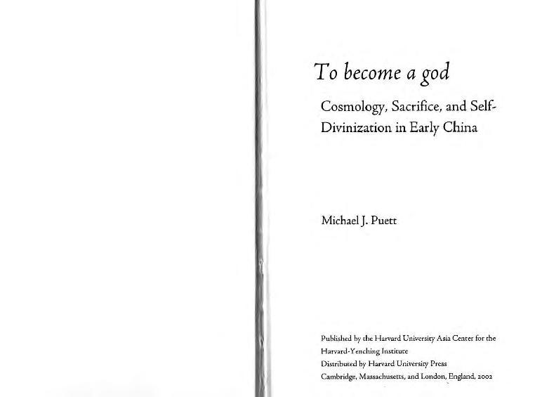 Pdf To Become A God Cosmology Sacrifice And Self