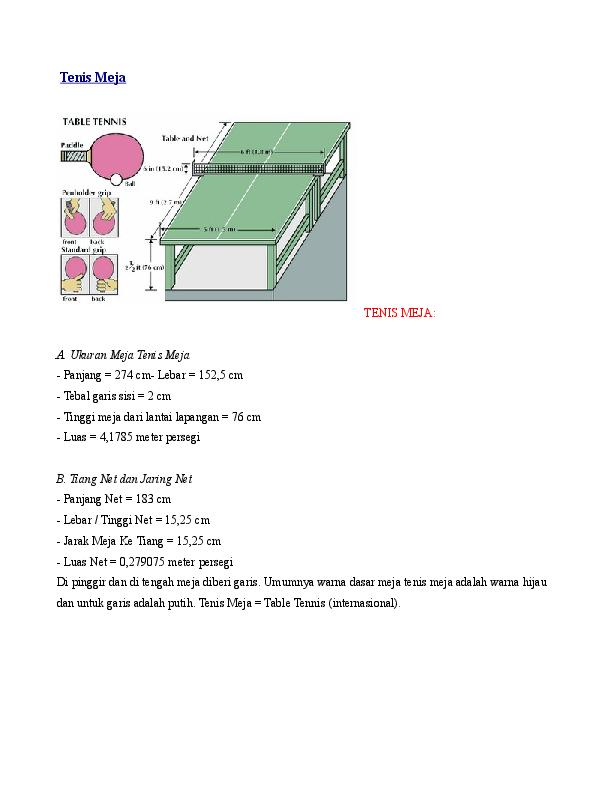 Doc Tenis Meja A Ukuran Meja Tenis Meja Pinky Yen Tan Academia Edu