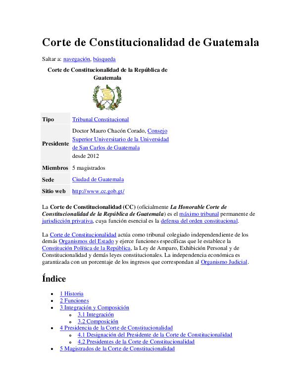 Doc Corte De Constitucionalidad De Guatemala Rodrigo