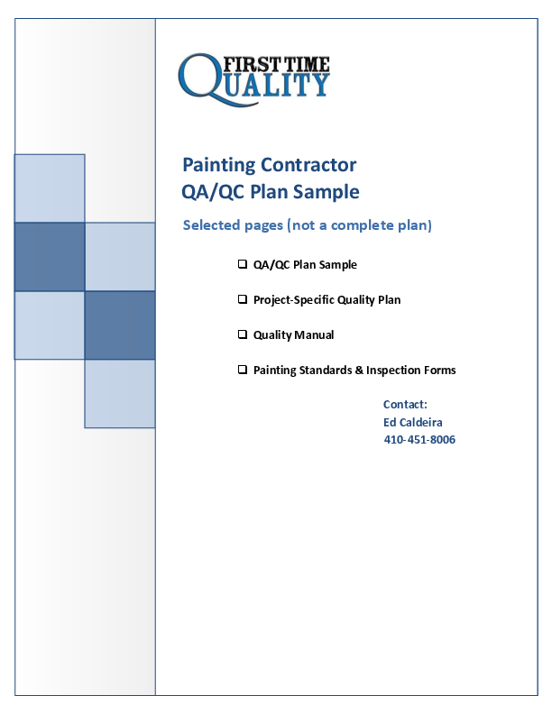 PDF) Painting quality control plan sample | Roberto Chavez