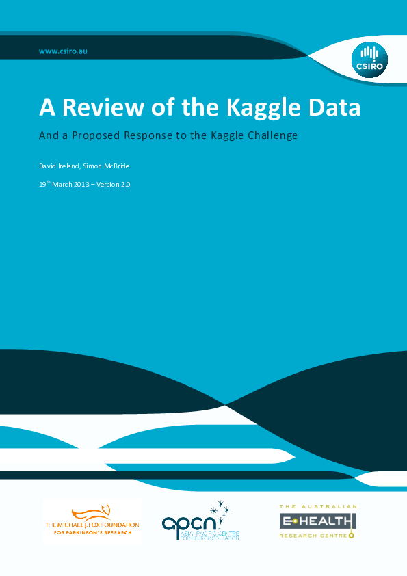 A Review of the Kaggle Data And a Proposed Response to the Kaggle