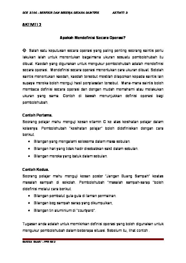 Doc Aktiviti 3 Sarina Sarina S Academia Edu