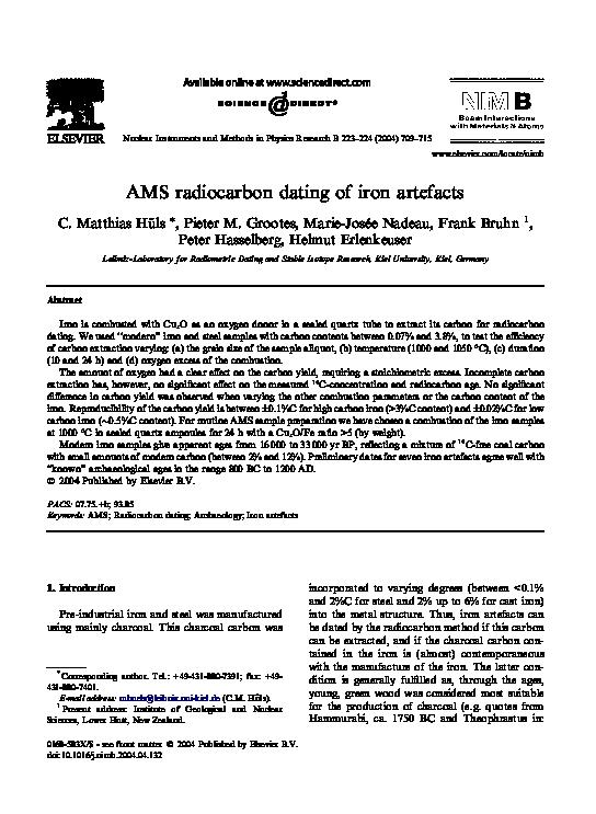 Radiocarbon (C14) Dating