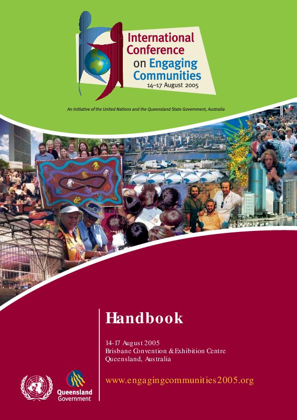 PDF) International Conference on Engaging Communities : Community