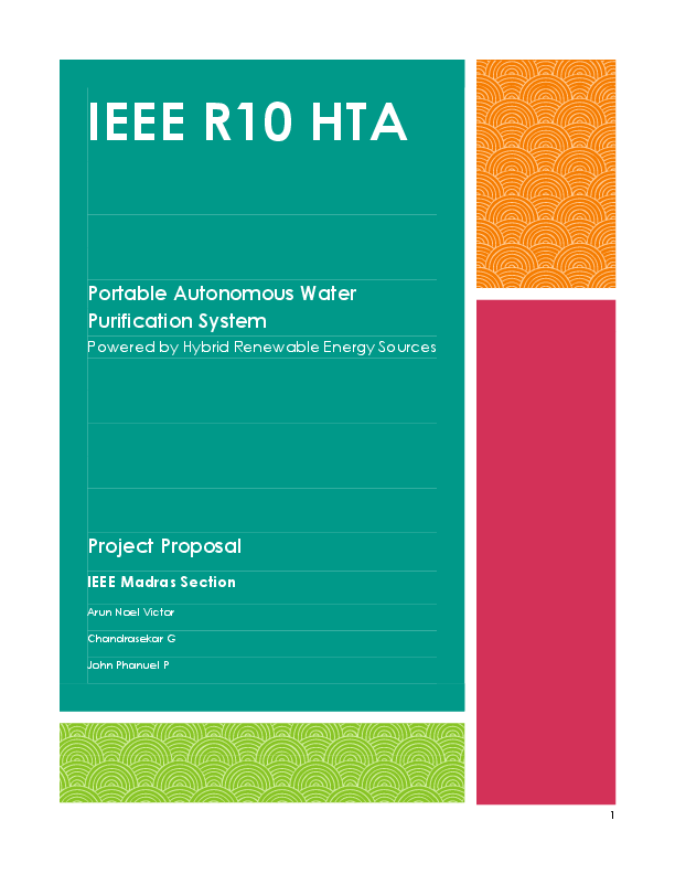 PDF) IEEE R10 HTA Portable Autonomous Water Purification System
