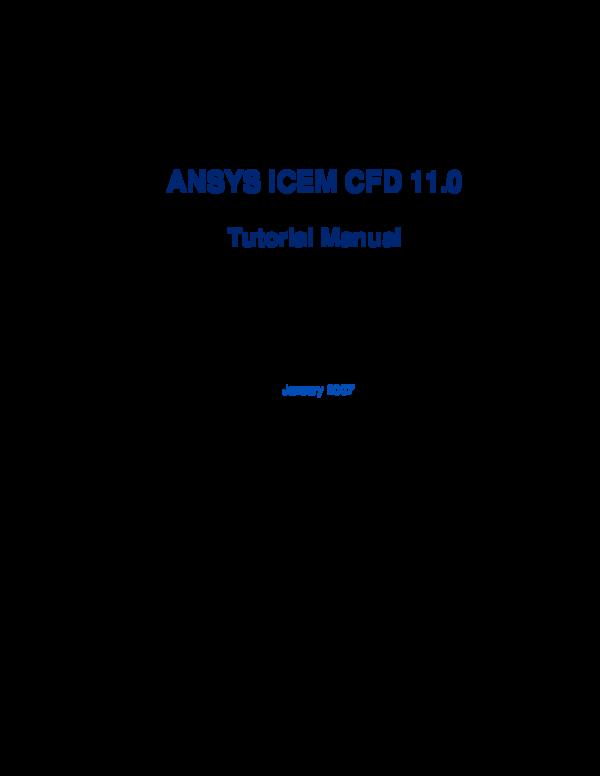 PDF) ANSYS ICEM CFD 11 0 | Patricia Azevedo - Academia edu
