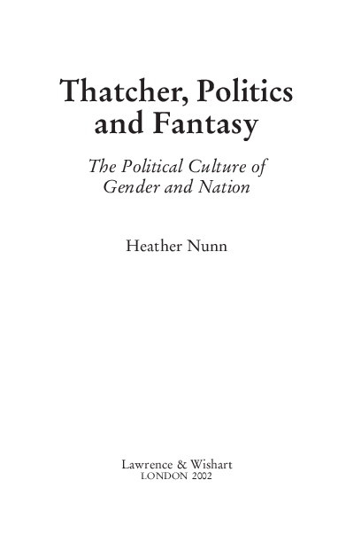 PDF) Thatcher, Politics and Fantasy: The Political Culture