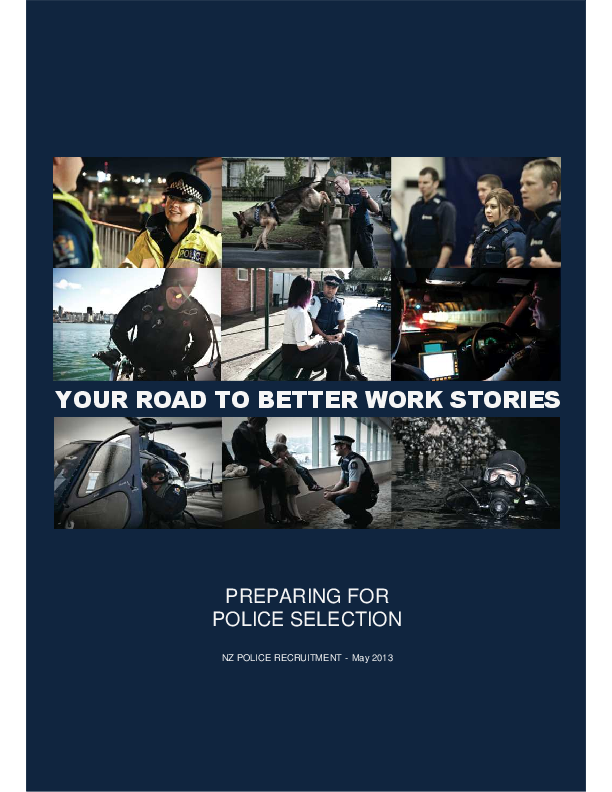 PDF) preparing for selection nz police original | mohammad hamidpour