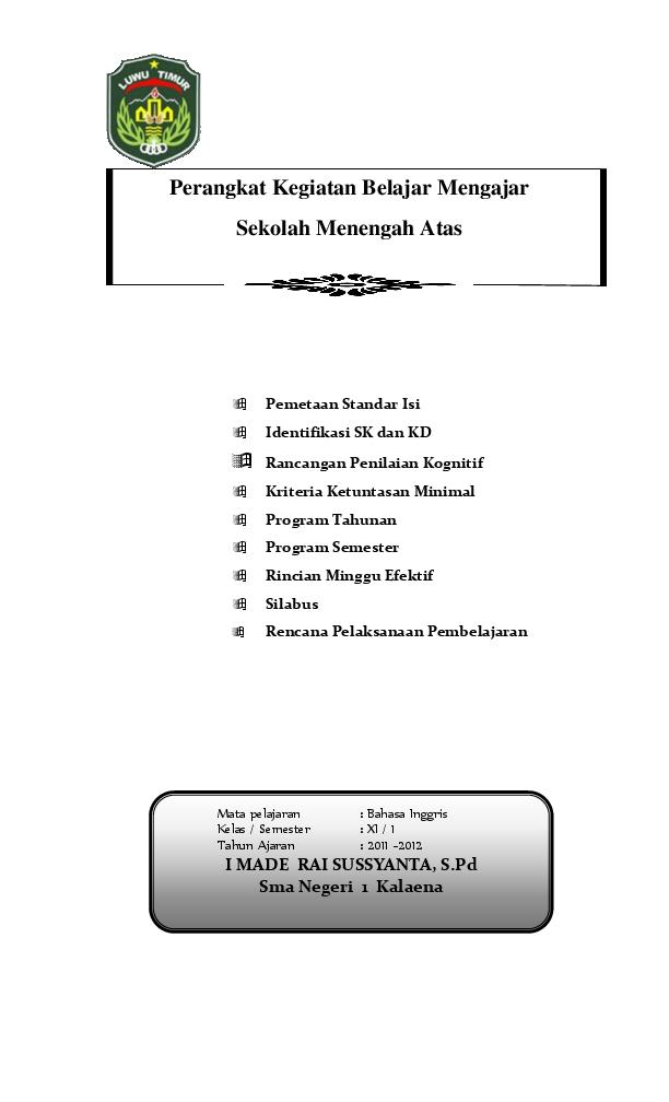 Doc Silabus Bahasa Inggris Berkarakter Sma Kelas Xi Semester 1 2 Hikma Zyda Academia Edu