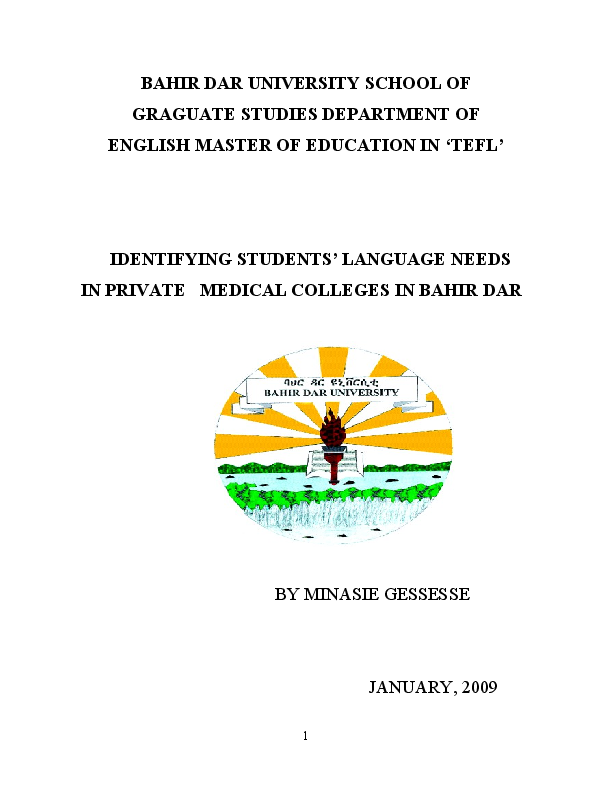 Master thesis english language