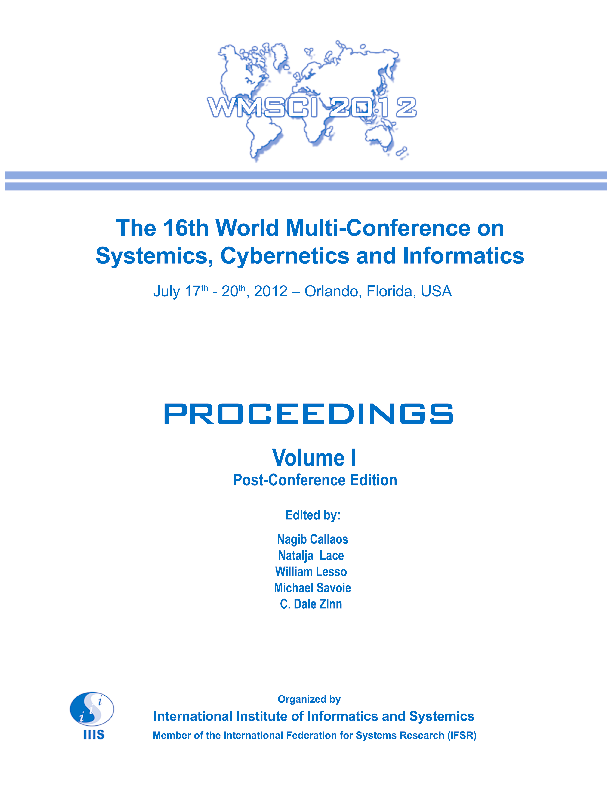 PDF) Proceedings of the the 16th World Multi-Conference on