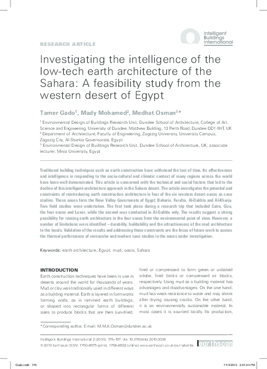 PDF) Investigating the intelligence of the low-tech earth