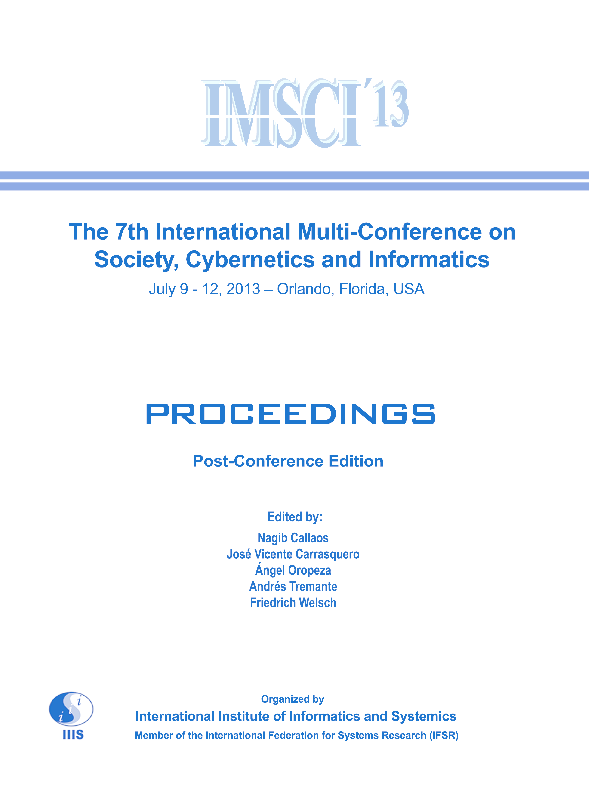 PDF) Proceedings of the 7th International Multi-Conference on