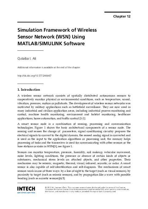 PDF) Simulation Framework of Wireless Sensor Network (WSN