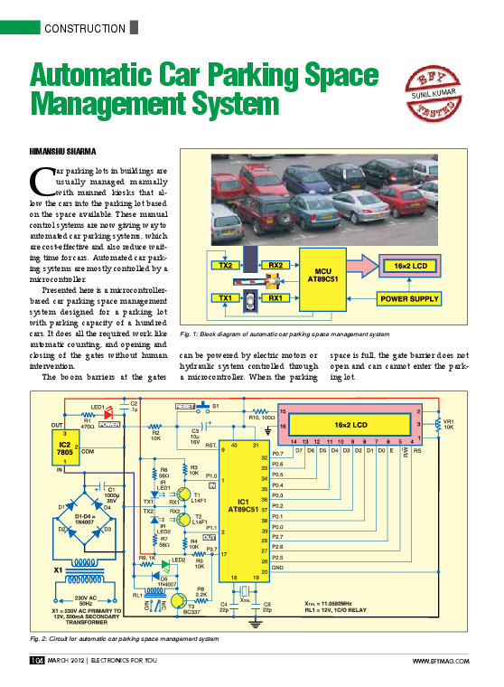 Pdf Automatic Car Parking Mejosh Tj Academia Edu