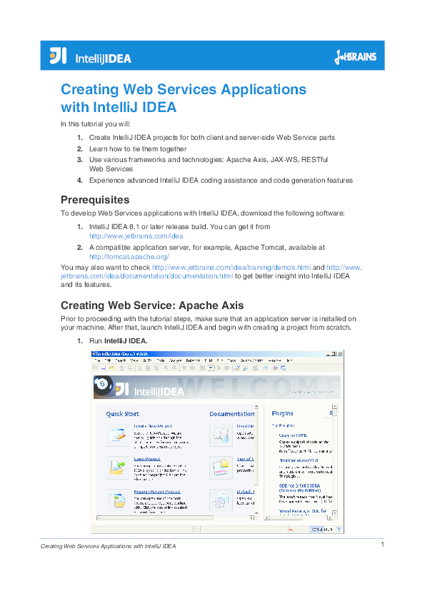 PDF) Creating Web Services Applications with IntelliJ IDEA