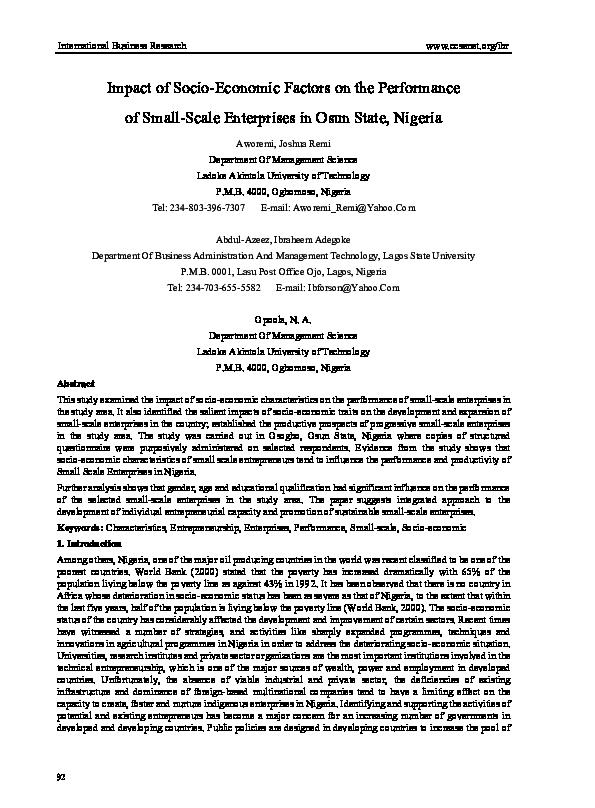 PDF) Aworemi et al Copy 124 | Aworemi J Remi - Academia edu