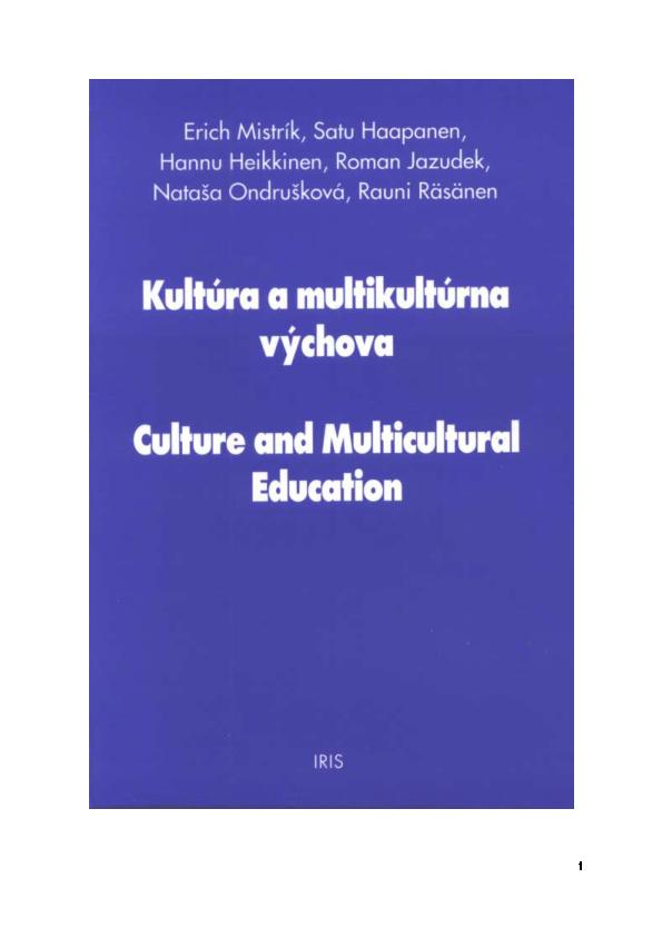 7ce56f00d69a PDF) Kultúra a multikultúrna výchova. Culture and Multicultural ...