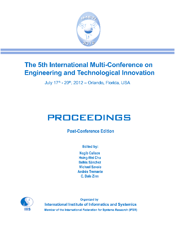 PDF) Proceedings of the 5th International Multi-Conference on